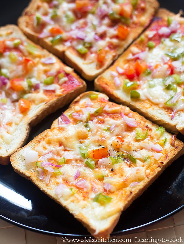 Bread Pizza | How to make Bread Pizza Indian Style