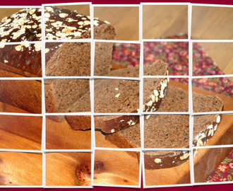 Carob, black sesame seeds and linseed bread / Pão de alfarroba e sementes!