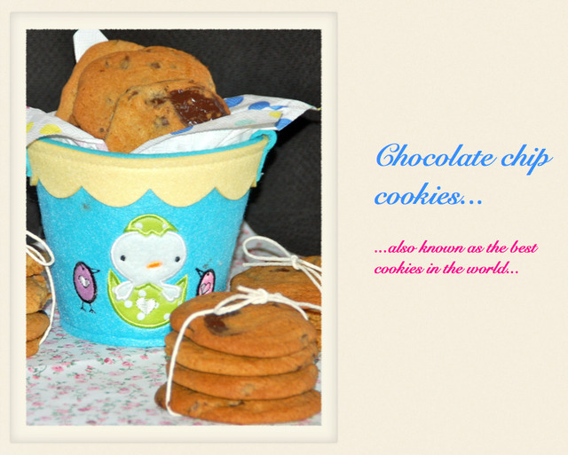 Chocolate chip cookies / As melhores bolachas com pepitas de chocolate!