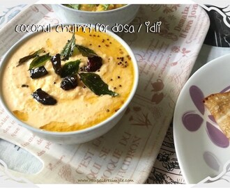 Coconut Chutney for Dosa / Idli