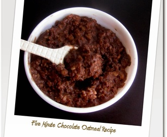 Chocolate Oats Recipe - Indian Oats Recipe for Kids