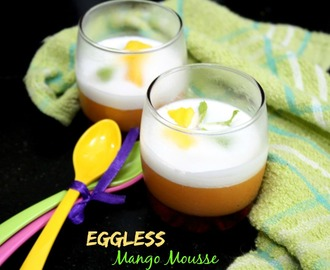 Eggless Mango Mousse Recipe | How to make Mango Mousse
