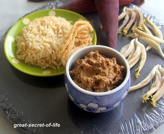 Valai Poo thogayal - plaintain flower thogayal - plaintain flower dip - Side for Rice - Vegan side