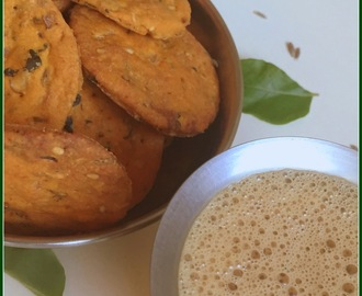 Baked Nippattu | Healthy Tea Time Snacks