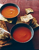Chilled Red Bell Pepper and Habanero Soup