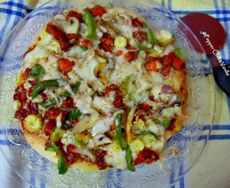 Chicken & Mushroom Pizza Recipe
