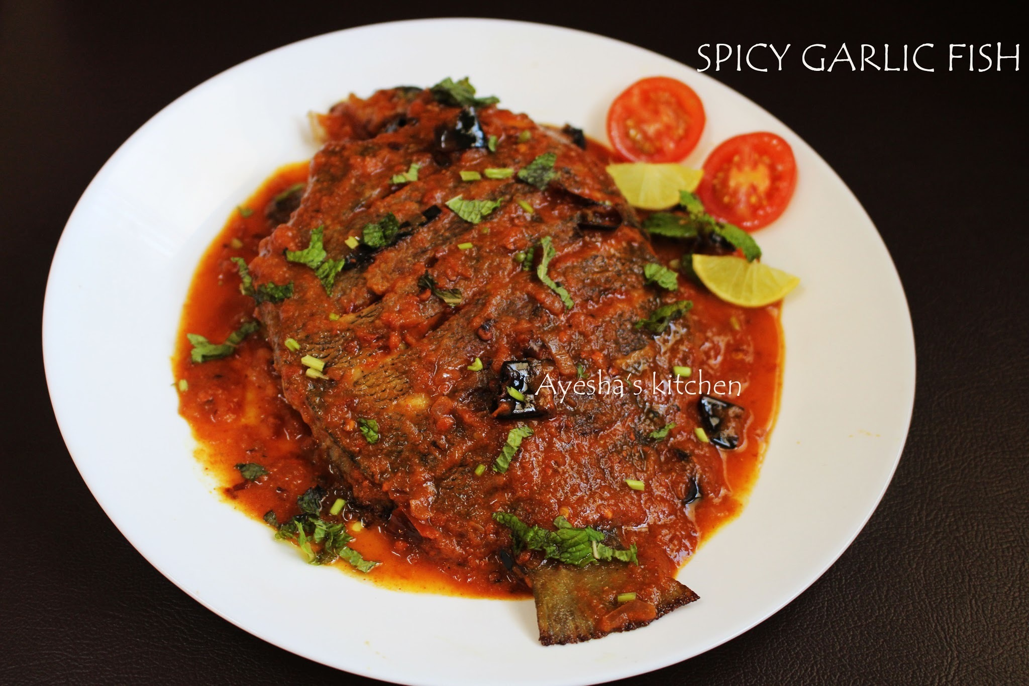FISH RECIPES - SPICY GARLIC FISH