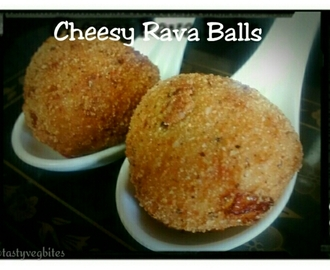 Cheesy Rava Balls Recipe(No potato/bread)