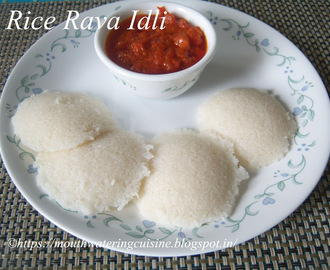 Rice Rava Idli Recipe -- How to make Rice Rava Idli Recipe -- Idli with Rice Rava