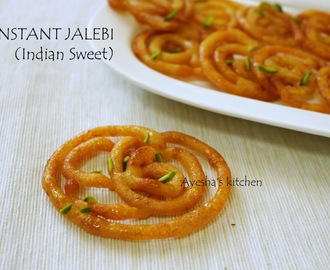 INSTANT JALEBI RECIPE - HOW TO MAKE CRISPY CRUNCHY JALEBI  IN 15 MINUTES