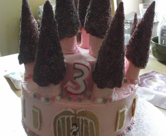 Princess Castle Birthday Cake for Princess Noo's Birthday Celebration