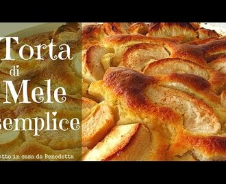 TORTA DI MELE SEMPLICE FATTA IN CASA DA BENEDETTA - Easy Homemade Apple Cake recipe
