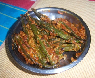 Stufffed Ladies Finger Curry | Stuffed Bhindi | Bendakaya Masala Kura