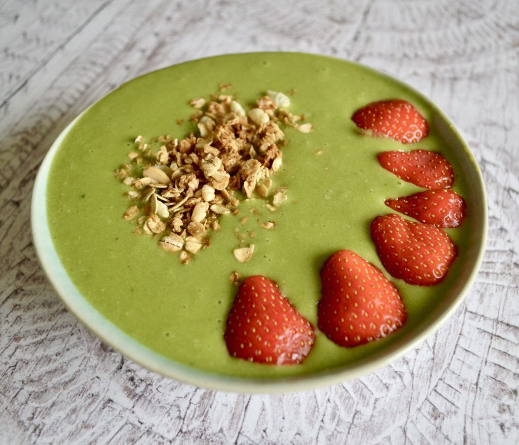 Gluten and Dairy Free Green Smoothie Bowl