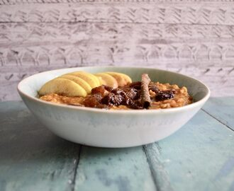 Gluten and Dairy Free Spiced Pumpkin Porridge