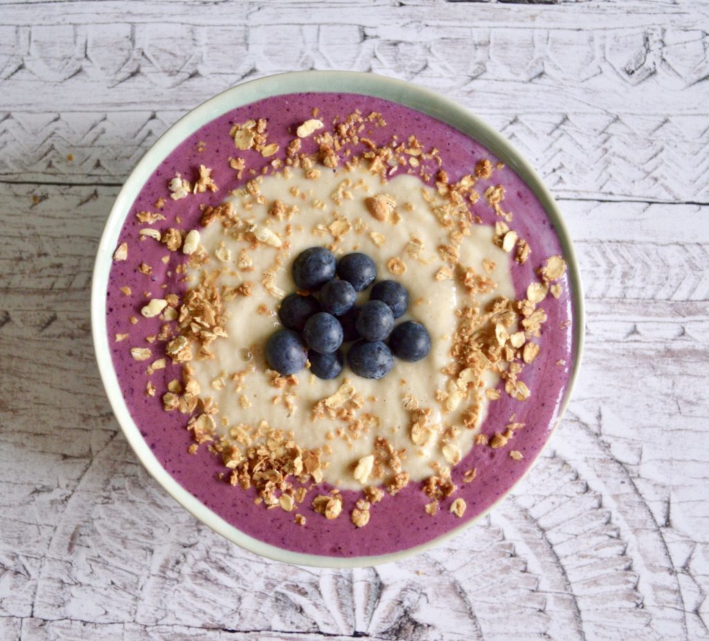 Gluten and Dairy Free Pear & Blueberry Smoothie Bowl