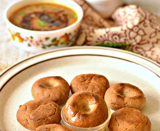 Baati for dal-bati-choorma platter from Rajasthan | Broiled wholewheat savoury bread