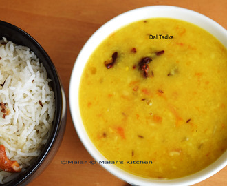 Ghee Rice and Dal Tadka