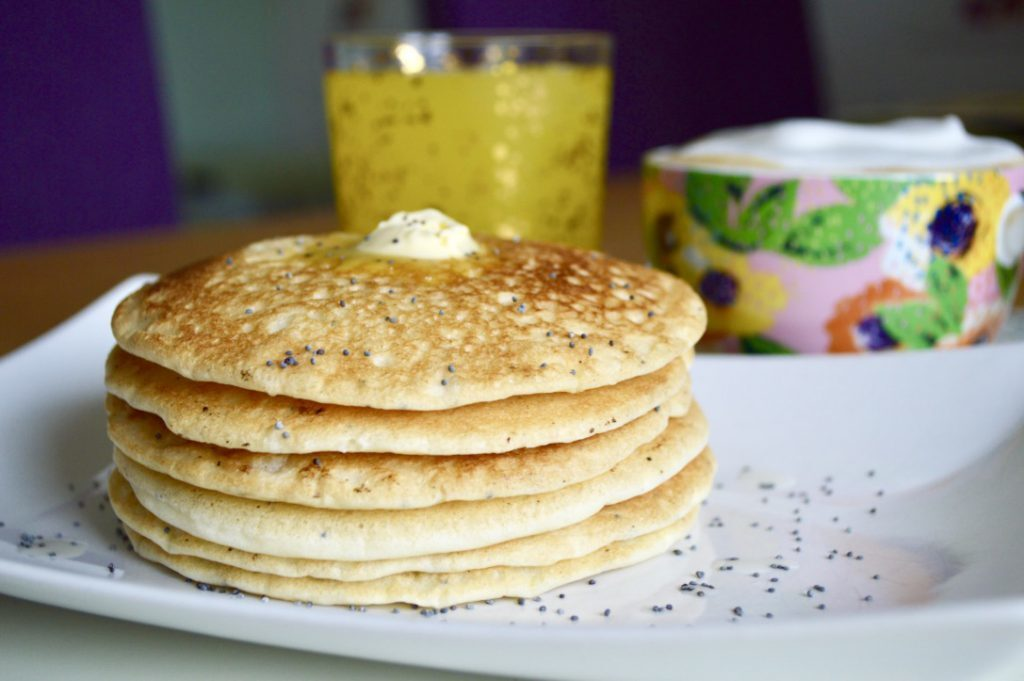 Gluten and Dairy Free Lemon and Poppy Seed Pancakes