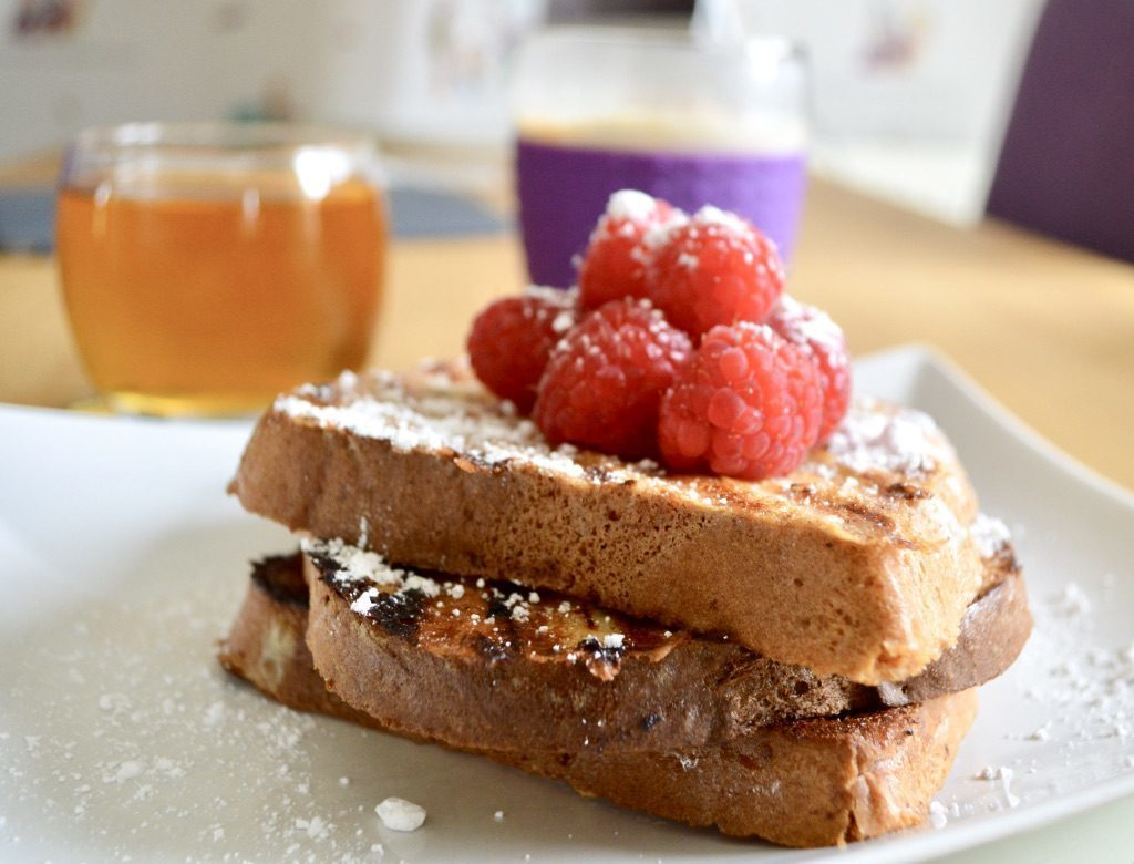 Gluten and Dairy Free Raspberry French Toast