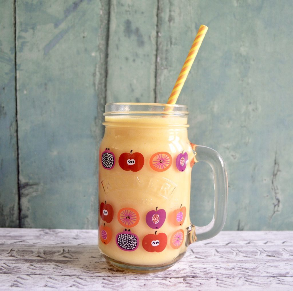 Gluten and Dairy Free Peachy Pie Smoothie