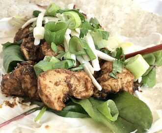 Gluten and Dairy Free Cajun Chicken Wraps