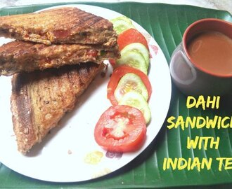 Dahi Sandwich or Yogurt sandwich
