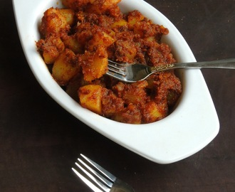 Instant Potato Pickle/Aloo Ka Achar/Quick Potato Pickle