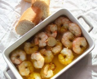 gambas al ajillo à minha  moda | Garlic prawns at my way