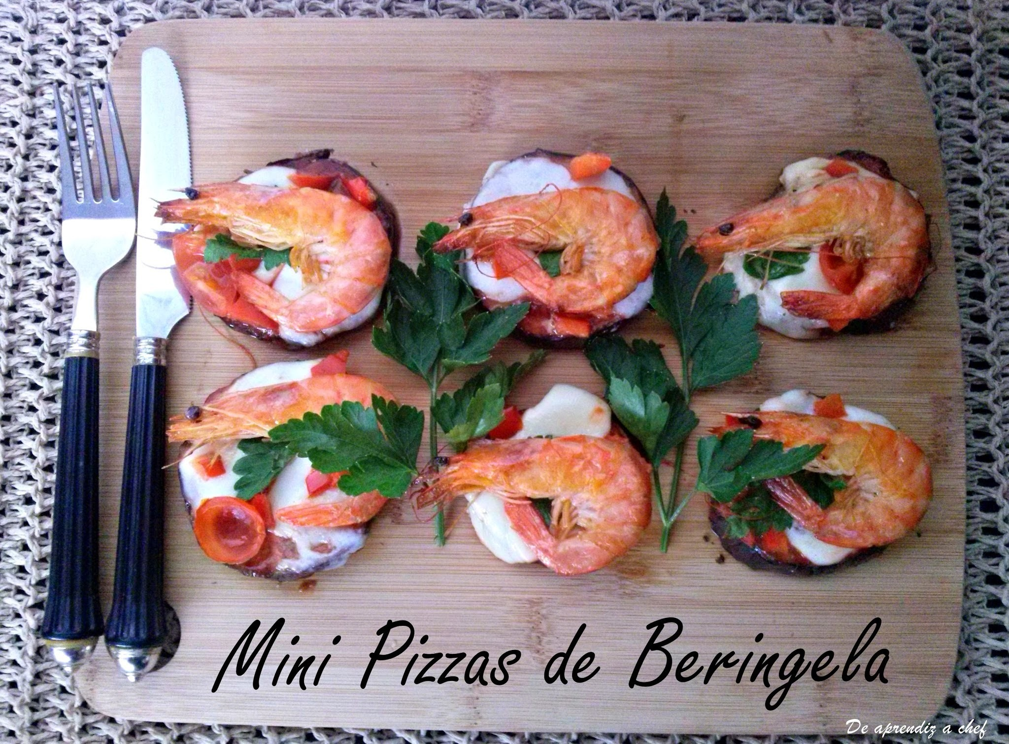 Mini Pizzas de Beringela