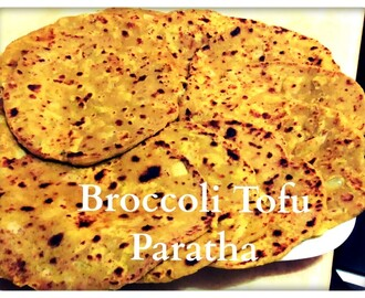 Broccoli Tofu Paratha