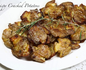 Crispy Cracked Potatoes ( Step - by - Step)