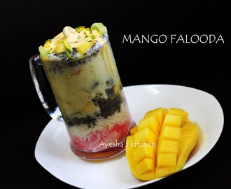 MANGO FALOODA / INDIAN DESSERT - HOW TO MAKE MANGO FALOODA AT HOME