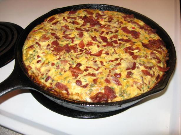 Skillet Potato Pie With Eggs and Cheese