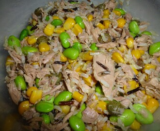 Tuna, Wild Rice, Sweetcorn and Soya Bean Salad with a light Mustard Dressing Recipe