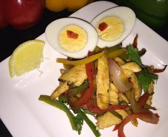 Chicken Bell pepper salad
