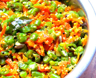 Carrot beans stir fry/poriyal