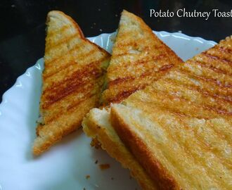 Potato Chutney Toast Sandwich