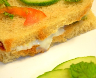Cucumber Tomato Sandwich Recipe - Fresh and Creamy Sandwich