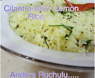 CILANTRO-MINT LEMON RICE