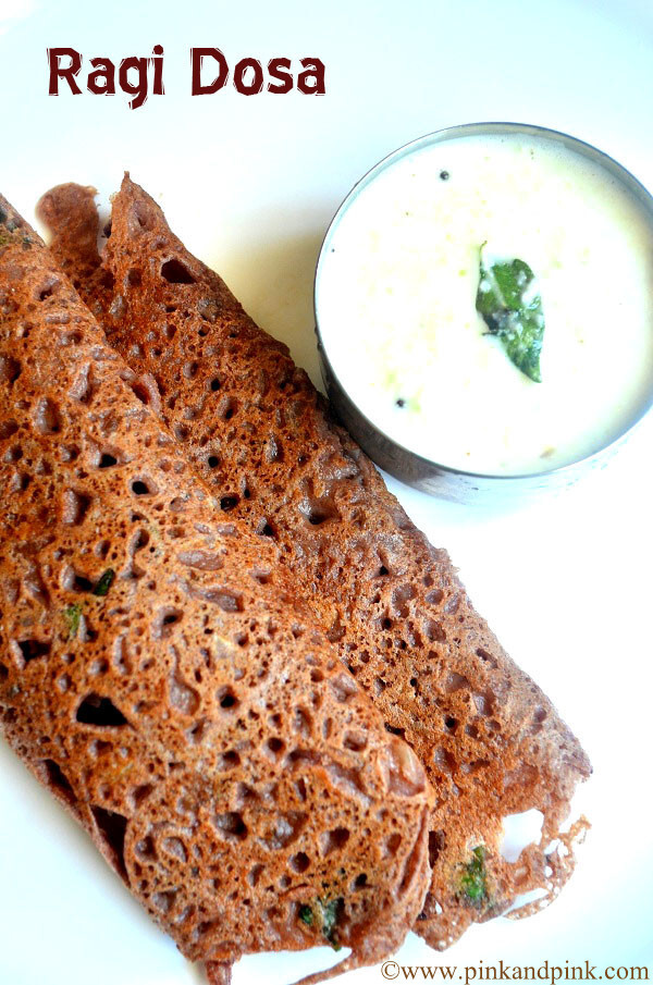 Instant Ragi Dosa - How To Make Ragi Dosa with Ragi Flour