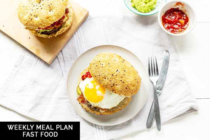 Weekly meal plan: fast food