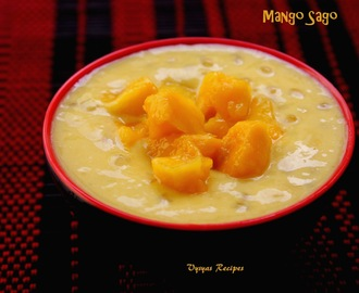 Easy Mango Sago Recipe - Mango Tapioca Pearls Pudding Recipe
