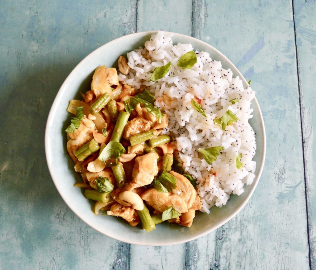 Gluten and Dairy Free Thai Basil Chicken