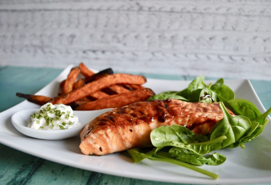 Gluten and Dairy Free Balsamic Glazed Salmon