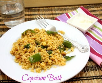 Capsicum Bath | How to make Bell Pepper Mixed Rice