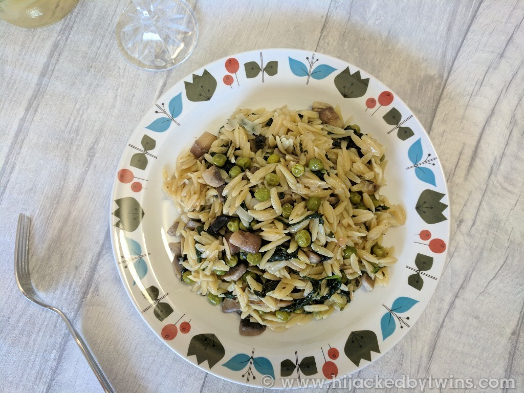 Mushroom Orzo Risotto - A Perfect Mid Week Meal