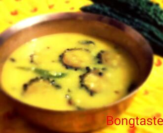 Karela Dal or Tito Dal or Moong Dal Cooked with Karela or Bitter Gour