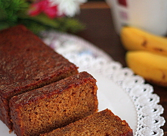 Eggless Dates Banana Cake
