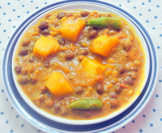 Easy To Make Side Dish–Kala Chana (Black Chickpeas) Curry